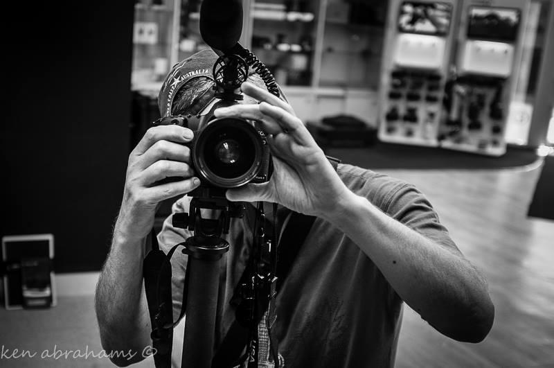 Hugh on camera